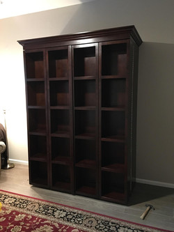 Wall bed with shelfs