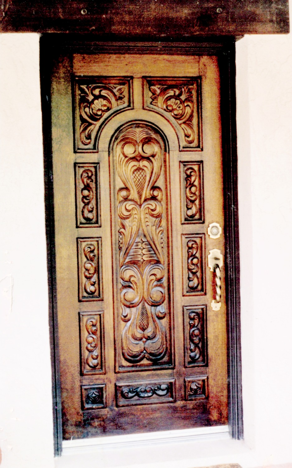 Custom Front Door - Hand Carved