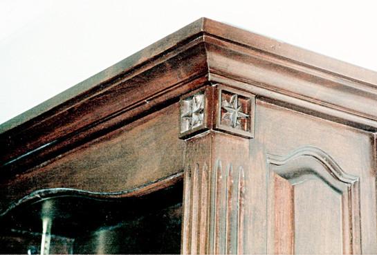 Custom Armoire - Hand carved Corners