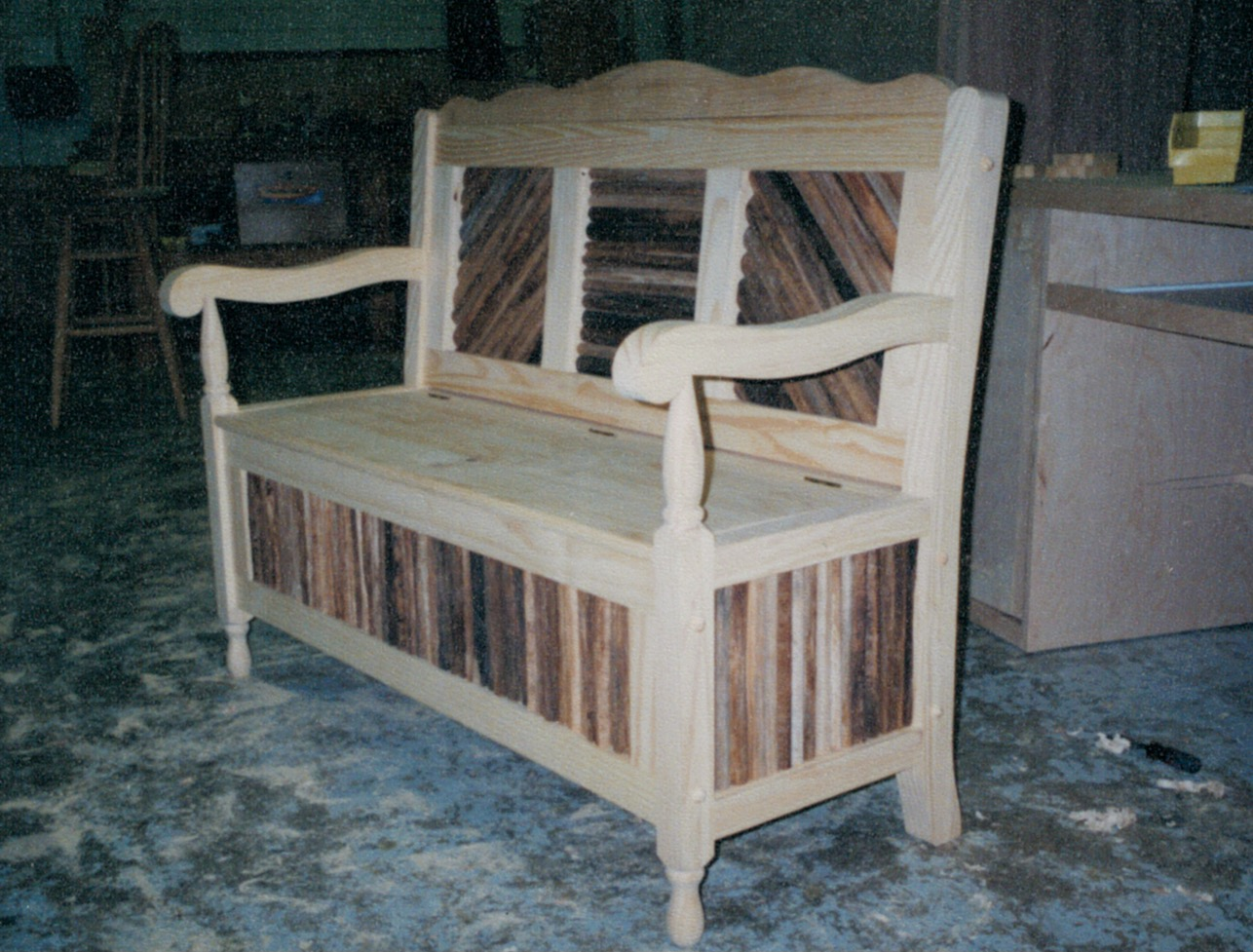 Custom bench chair