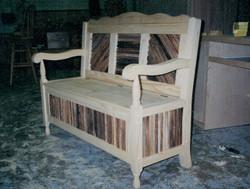Custom bench chair