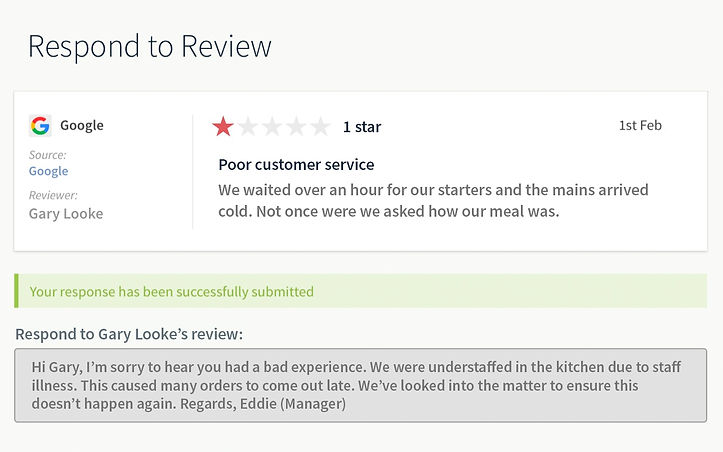 respond to reviews directly