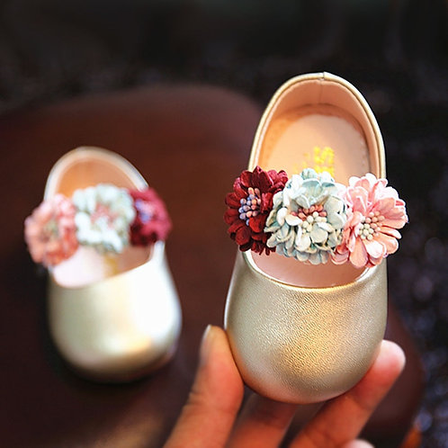Lovely Baby Girl Princess Shoes Beautiful Small Flower Princes Baby Toddler