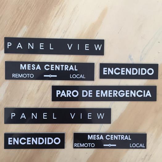 PLACAS DE IDENTIFICACIÓN PARA TABLERO ELECTRICO