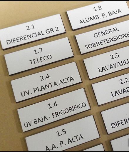 PLACAS DE IDENTIFICACIÓN PARA TABLERO