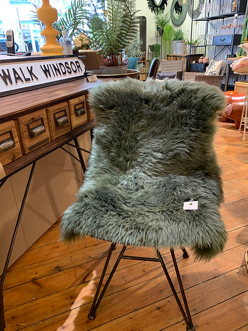 XL Mid Green Sheepskin 100cm