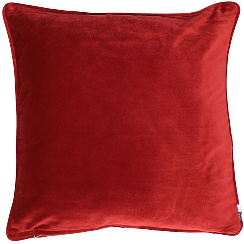 Large Velour Red Cushion