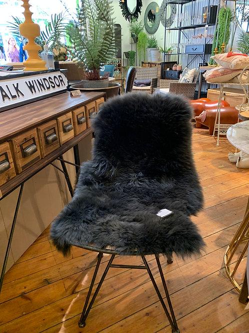 Small Dark Grey Sheepskin 85cm