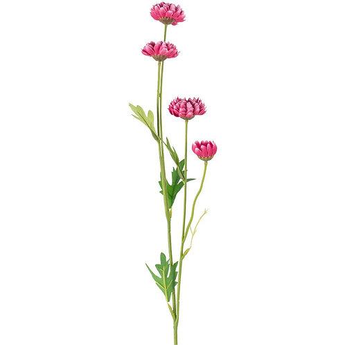 Dark Pink Faux Daisy Spray
