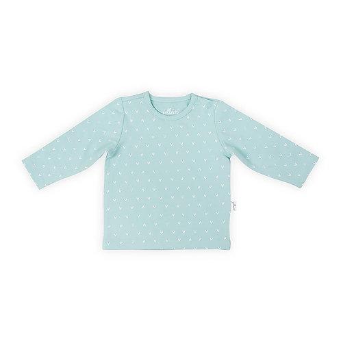 T-shirt & broekje 'Hearts green'
