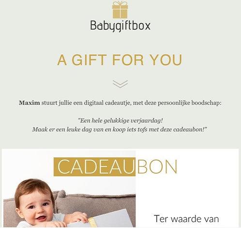 Cadeaubon digitaal (per mail) - vanaf € 15