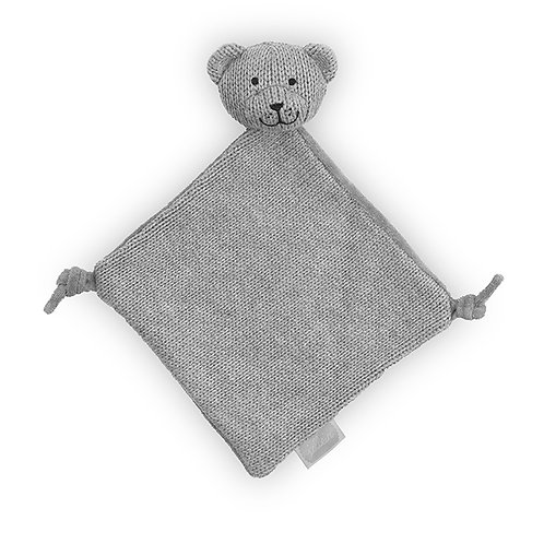 Knuffeldoekje Natural Knit Bear grey
