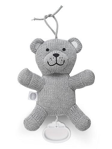 Muziekknuffel Natural Knit Bear grey