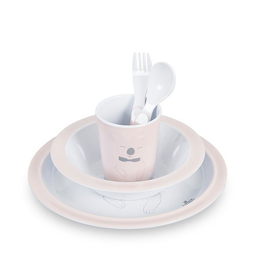 Eetset Wild animals - creamy peach