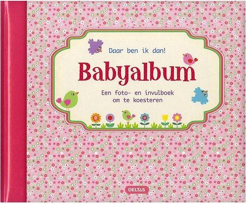 Daar ben ik dan! Babyalbum (roze)