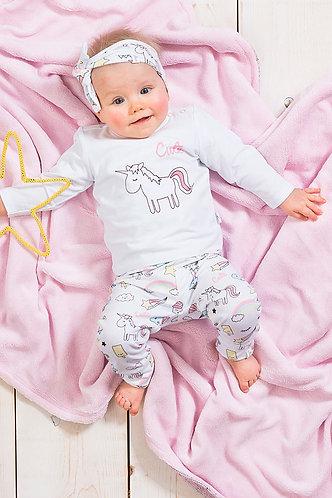 T-shirt & broekje 'Unicorn'