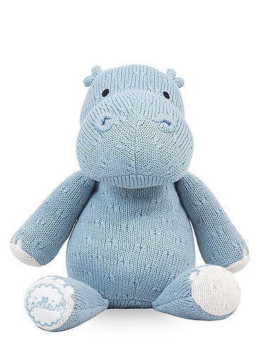 Soft Knit Hippo Soft Blue
