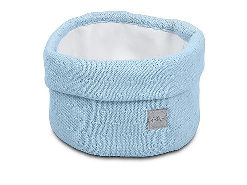 Verzorgingsmandje Soft Knit Soft Blue
