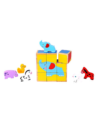 Blokkenpuzzel diertjes