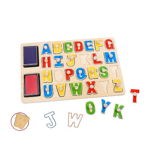 Stempelpuzzel alfabet