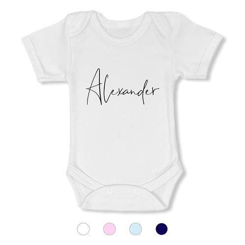Romper met naam - lettertype 'Alexander'