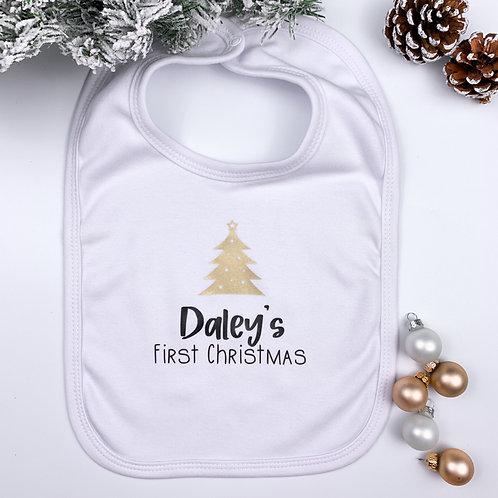 Slab met naam - First Christmas wit