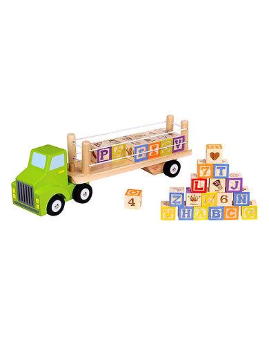 Alfabet vrachtwagen