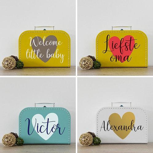 Koffertje met naam 'big heart'