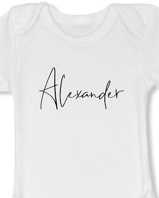 Romper wit - lettertype Alexander - zwar