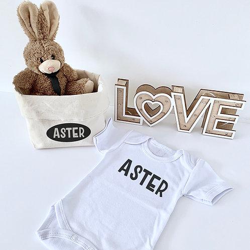 Geschenkset met bruin konijntje