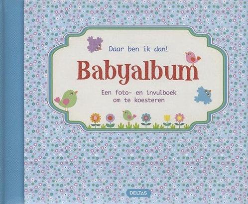 Daar ben ik dan! Babyalbum (blauw)