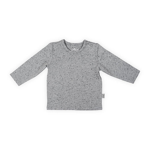 T-shirt & broekje 'Speckled grey'