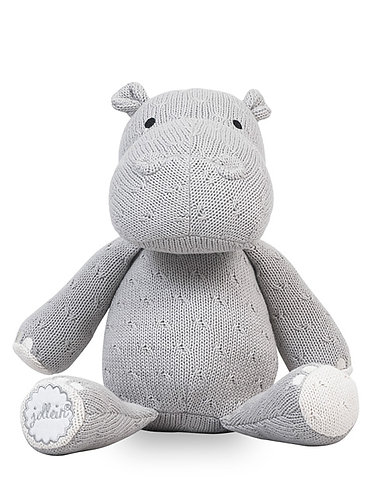 Soft Knit Hippo Light Grey