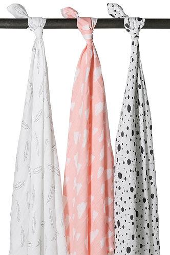 Multidoek 3-pack pink