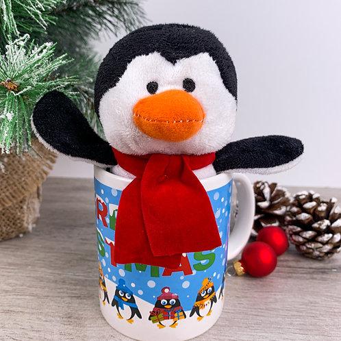 Pinguinknuffel + mok