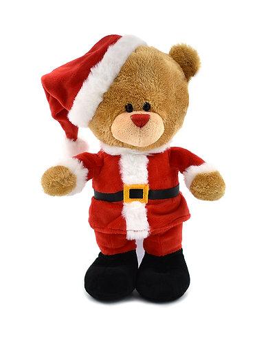 Muziekknuffel kerstbeer in gepersonaliseerd rugzakje