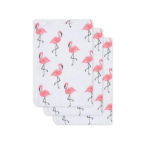 Washandjes flamingo (3-pack)