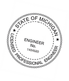 Michigan Engineer's Stamp