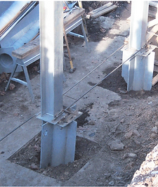 Steel Upright for Retaining Wall