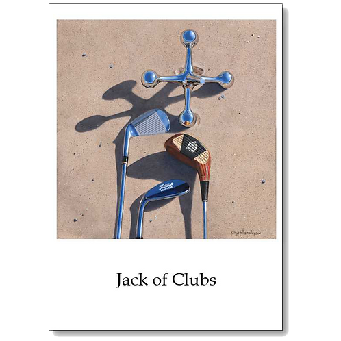 Jack of Clubs 5x7 Note Card