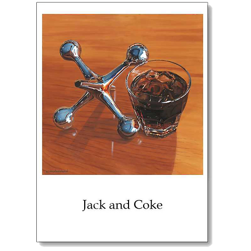 Jack and Coke 5x7 Note Card