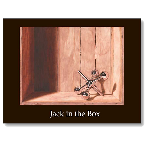 Jack in the Box 5x7 Note Card