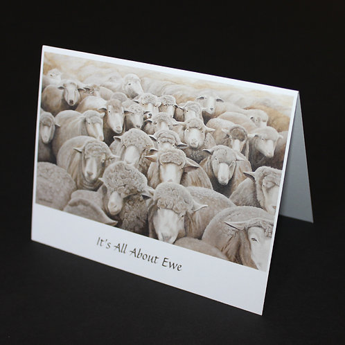 "It's All About Ewe - 4-1/4""x5-1/2"""