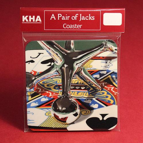 "One ""A Pair of Jacks"" Coaster"
