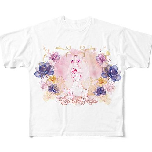 Basse MANIA LuxuryFlower BIG柄Tシャツ