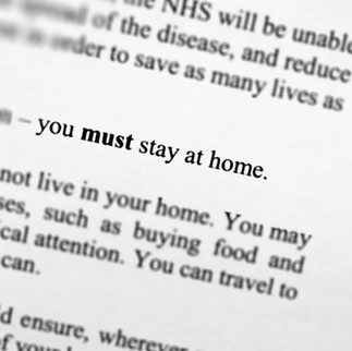 """""""Stay Home. Save Lives. Protect the NHS"""""""