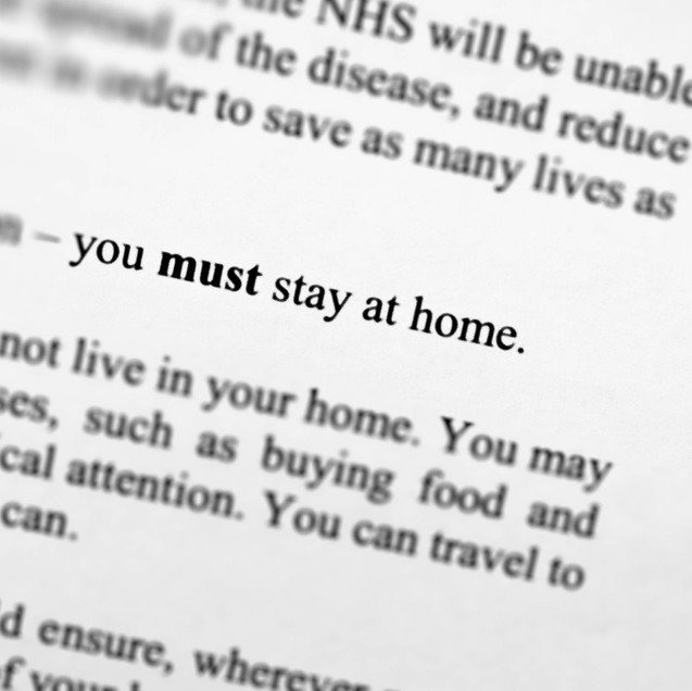 """Stay Home. Save Lives. Protect the NHS"""