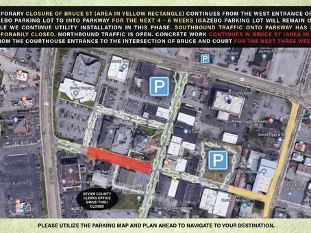 2/21/2020: Traffic Advisory - Parkway Closures Beginning 8am - February 25