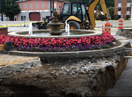 September 25, 2020: UPDATE!! Main Street work Underway