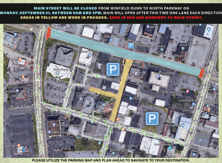 September 18, 2020: Main Street Closure on Monday, September 21